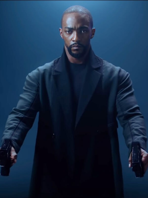 Anthony Mackie Altered Carbon SO2 Trench Black Wool Coat