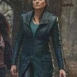 Ash vs Evil Dead Tv Series Lucy Lawless Black Leather Coat