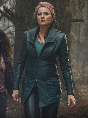 Ash vs Evil Dead Lucy Lawless Leather Coat