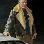 Aviator Bomber Shearling Bruce Campbell Leather Jacket