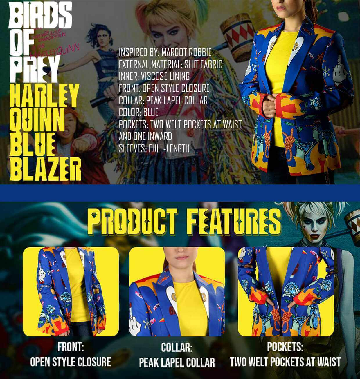 Birds Of Prey Harley Quinn Blazer