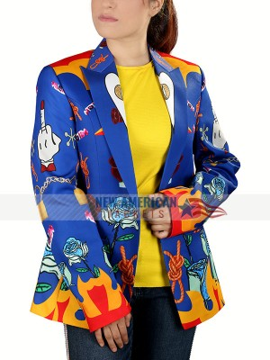 Harley Quinn Blue Blazer Jacket