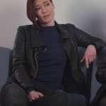 Black Leather Jacket Worn by Alex Danvers in Tv Series Supergirl
