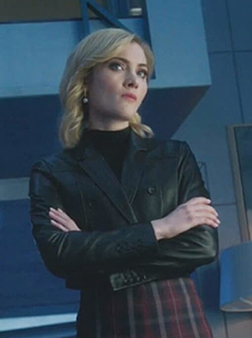 Black Short Body Leather Jacket Worn by Skyler Samuels in The Gifted