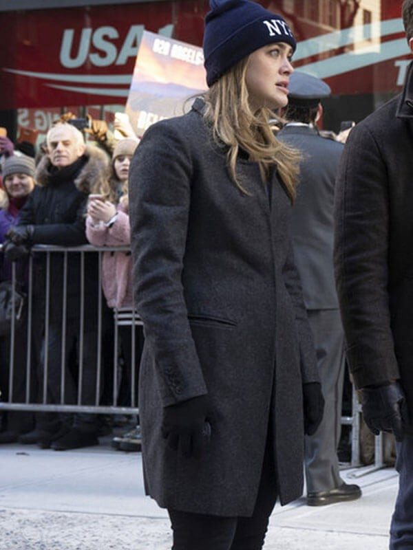 Black Trench Coat worn by Michaela Stone in Tv Series Manifest