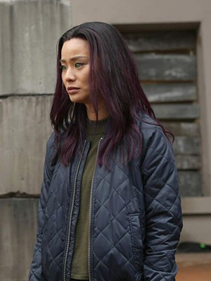 Clarice Fong TV Series The Gifted Quilted Bomber Jacket