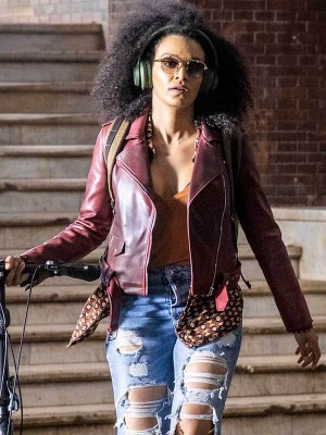 Tv Series Queen Sono Pearl Thusi Leather Jacket