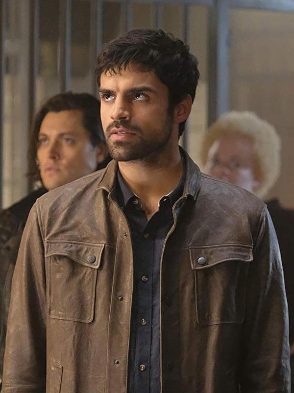 Brown Leather Jacket worn by Sean Teale in Tv Series The Gifted