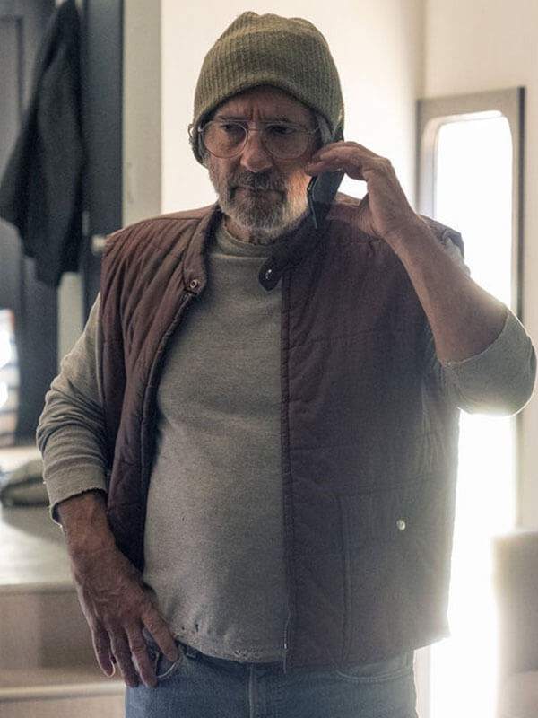 Brown Quilted Cotton Vest worn by Griffin Dunne in Tv Series This Is Us