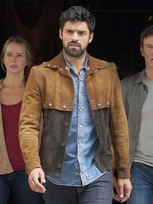 The Gifted Tv series Sean Teale Suede Brown Leather Jacket