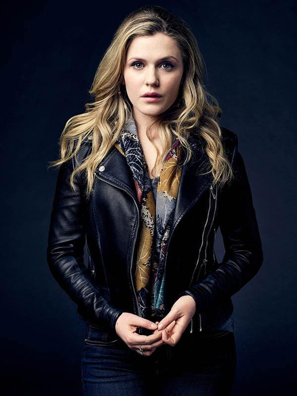 Cassie Bishop Motorcycle Style Leather Jacket