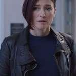 Chyler Leigh Tv Series Supergirl Season 05 Black Leather Jacket
