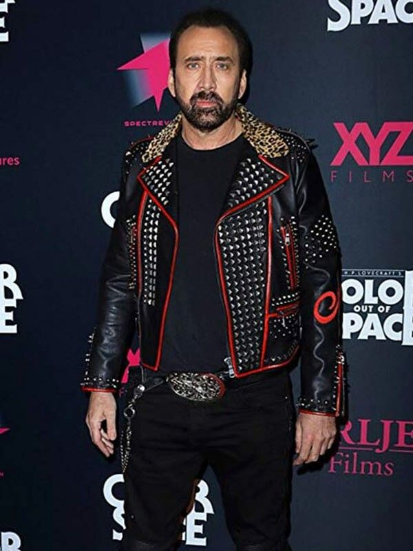 Color Out Of Space Black and Red Nicolas Cage Jacket