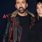 Color Out Of Space Nicolas Cage Black and Red Studded Jacket