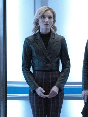 Skyler Samuels The Gifted Black Cropped Jacket for Womens