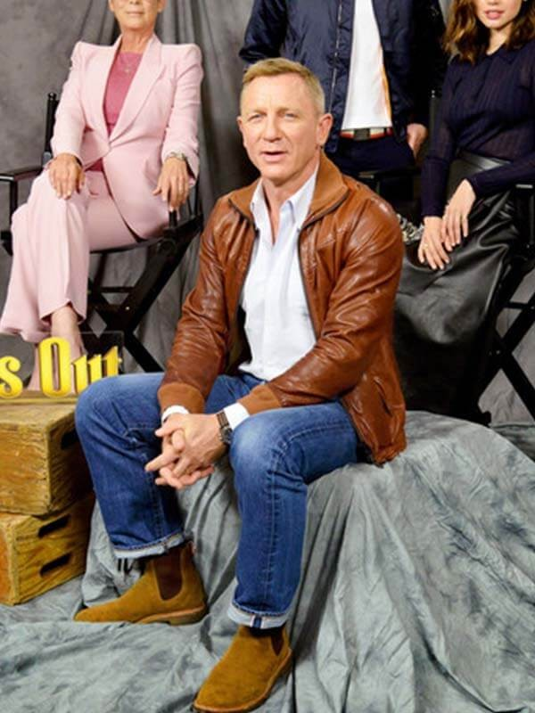 Daniel Craig photocall for Lionsgate's Knives Out LeatherJacket