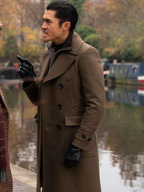 Dry Eye Worn Brown Trench Coat in Movie The Gentleman