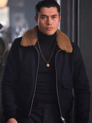 Henry Golding The Gentleman Shearling Jacket