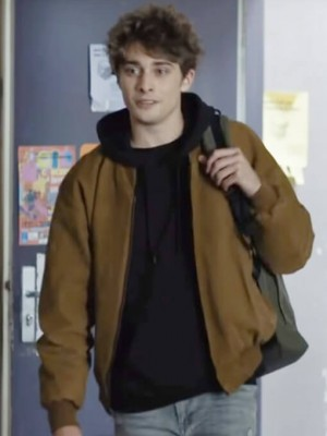 Maxence Danet-Fauvel Tv Series Skam France Suede Leather Jacket