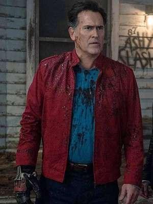 Ash vs Evil Dead Bruce Campbell Red Jacket
