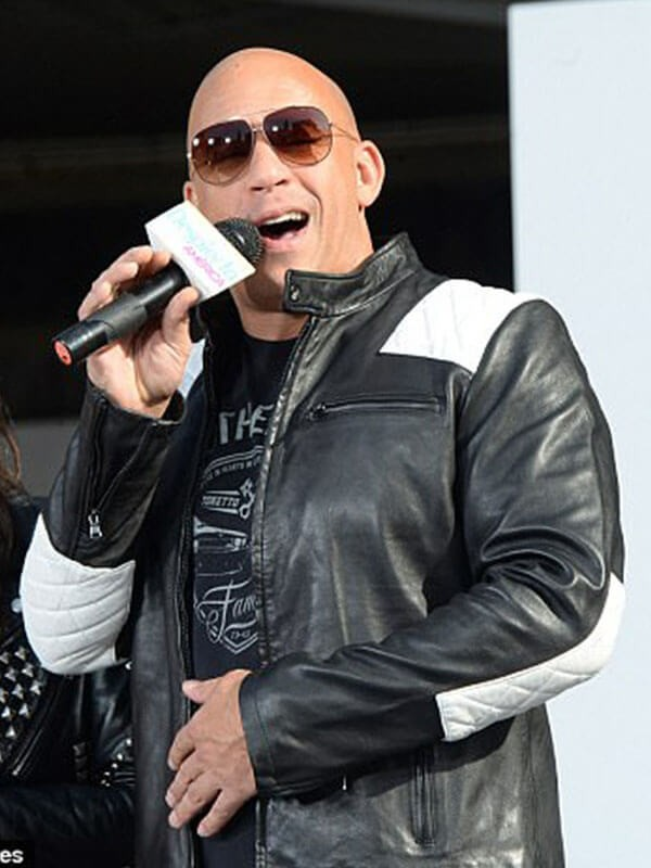 F9 Concert in New York Vin Diesel Leather Jacket