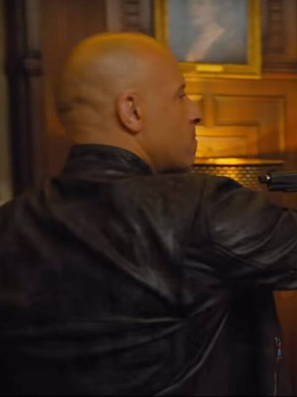 F9 Vin Diesel Black Leather Jacket