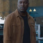 FF9 Tyrese Gibson Brown Cotton Jacket