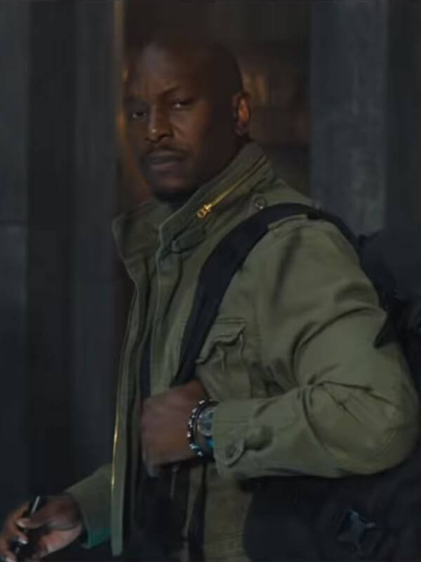 FF9 Tyrese Gibson Green Cotton Jacket