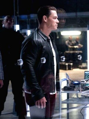 Black Leather John Cena Jacket in Fast 9