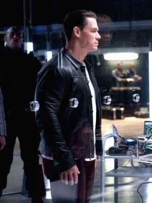 John Cena F9 2021 Black Leather Jacket
