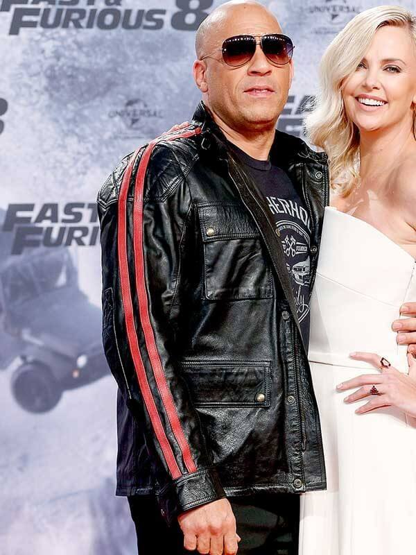 Fast and Furious 9 Premiere Dominic Toretto Red Stripes Jacket