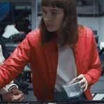 Frances O'Connor Movie Go Red Bomber Jacket