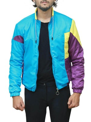 Long Shot Fred Flarsky Tricolor Satin Jacket