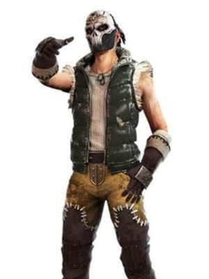 Garena Free Fire Battlegrounds Skull King Quilted Green Vest