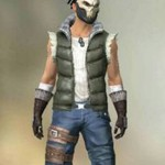 Free Fire Skull King Quilted Puffer Vest