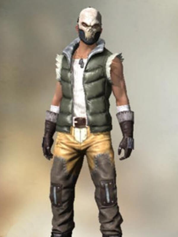 Garena Free Fire Battlegrounds Skull King Quilted Green Vest