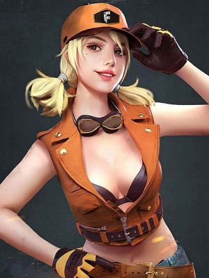 Garena Free Fire Misha Orange Jacket For Womens