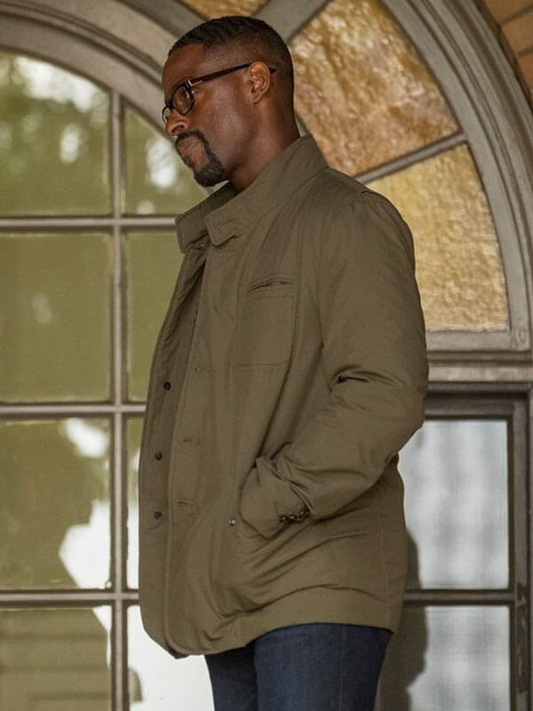Green Cotton Jacket worn by Randall Pearson in Tv Series This Is Us