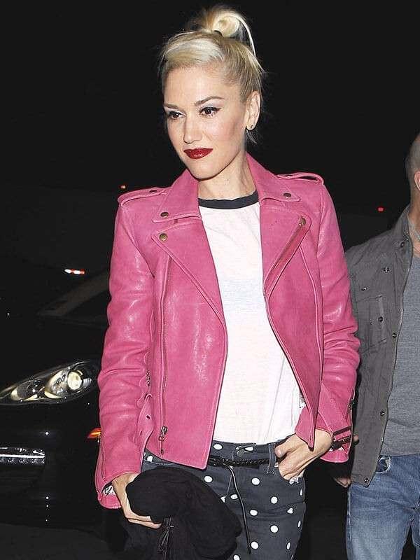 Gwen Stefani Hot Pink Leather Jacket
