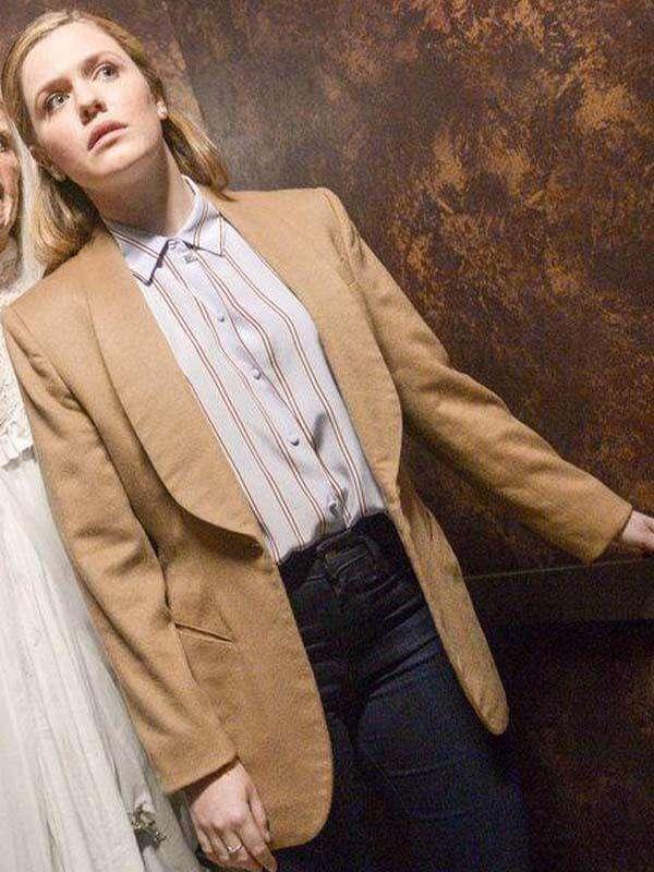 Harriet Dyer Tv Series The InBetween Brown Wool Coat