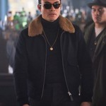 Henry Golding Movie The Gentleman Fur Shearling Collar Jacket