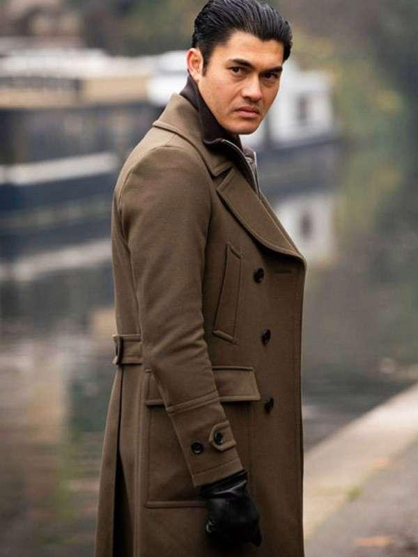 Henry Golding Movie The Gentleman Long Brown Coat
