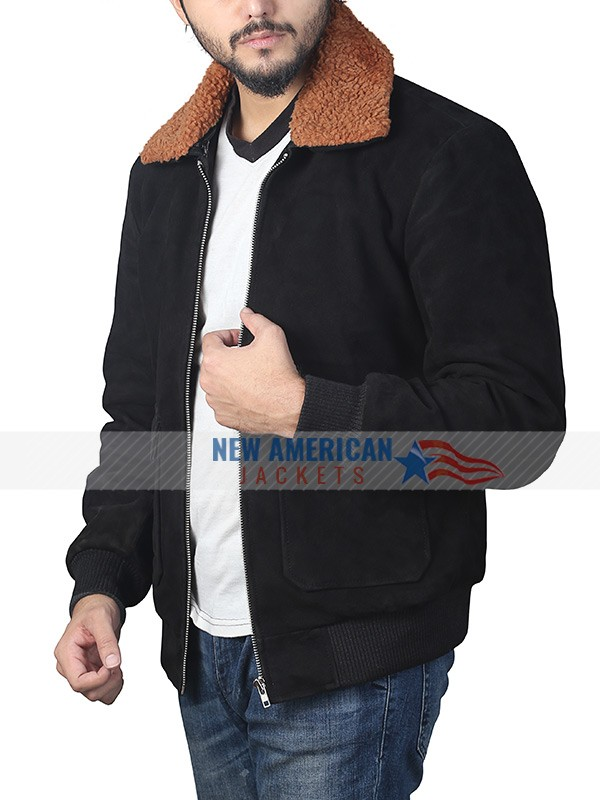 Henry Golding Shearling Jacket