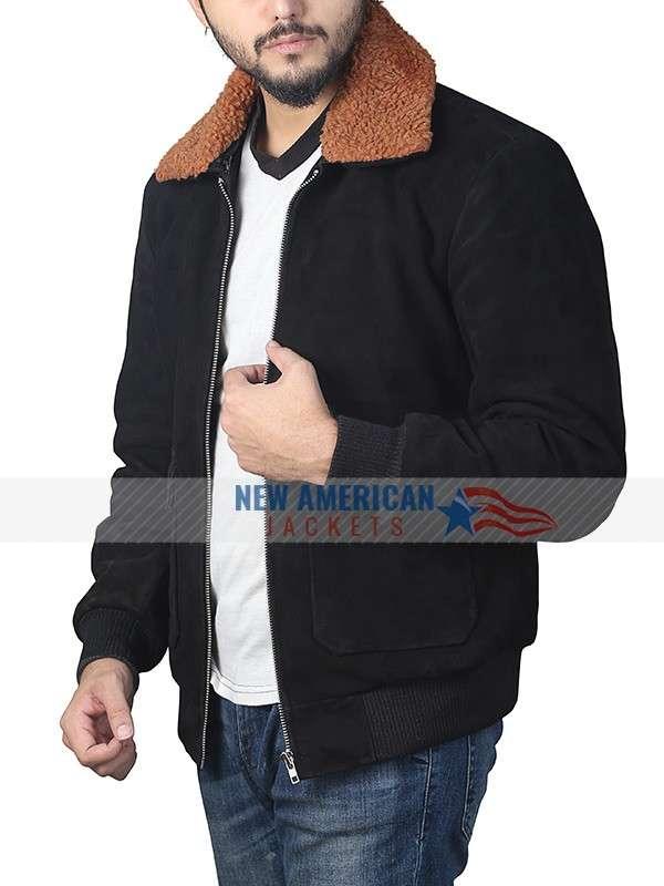 Henry Golding Shearling Jacket