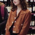 Jacket in Brown Suede Leather of Manon Demissy in Skam France