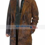 John Hurt Doctor Who Brown Leather Coat