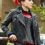 Kat Zomboat Black Motorcycle Leather Jacket