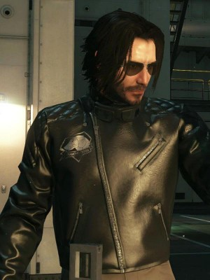 Johnny Silverhand Quilted Leather Jacket in Cyberpunk 2077