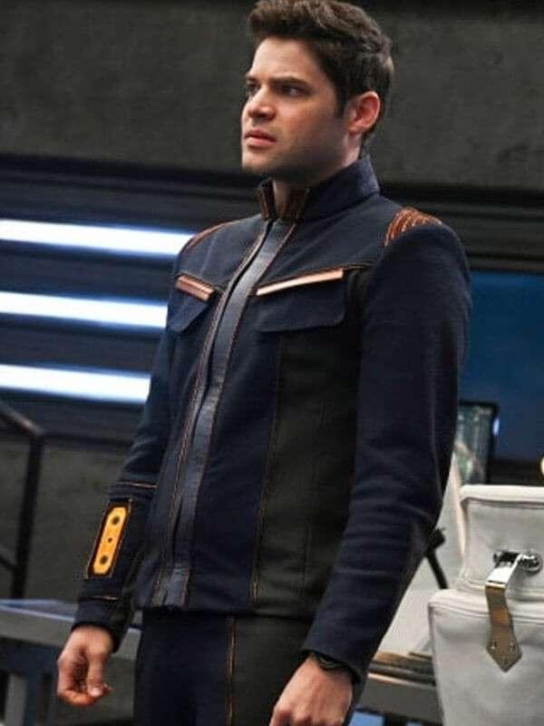 Leather Jacket Worn by Winn Schott in Tv Series Supergirl S05