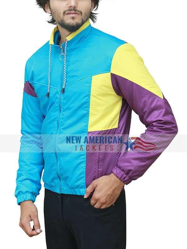 Long Shot Fred Flarsky Tricolor Satin Jacket